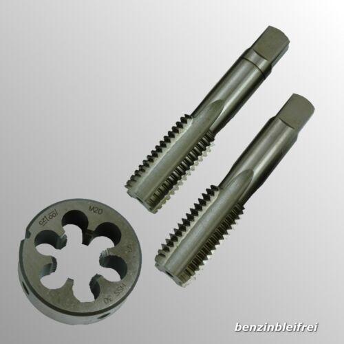 Set M14x1,5 MF14x1,5 HSS Gewindebohrer Gewindeschneider Schneideisen g6 3-tlg