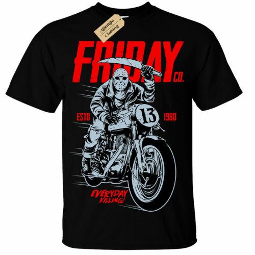 Kids Boys Girls Friday Co T-Shirt Jason Biker halloween horror nightmare