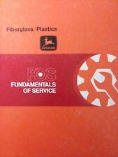John Deere Fos 59 Fiberglass Amp Plastics Body Repair Shop Tractor Service Manual