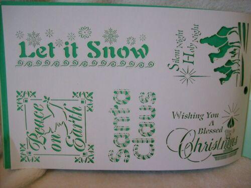Card Embellishments Christmas Laser Stencils Scrapbook Paper