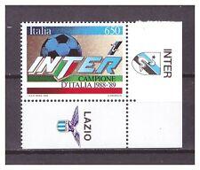 s16052) ITALIA 1989 MNH** INTER Campione '89 + tab INTER - LAZIO