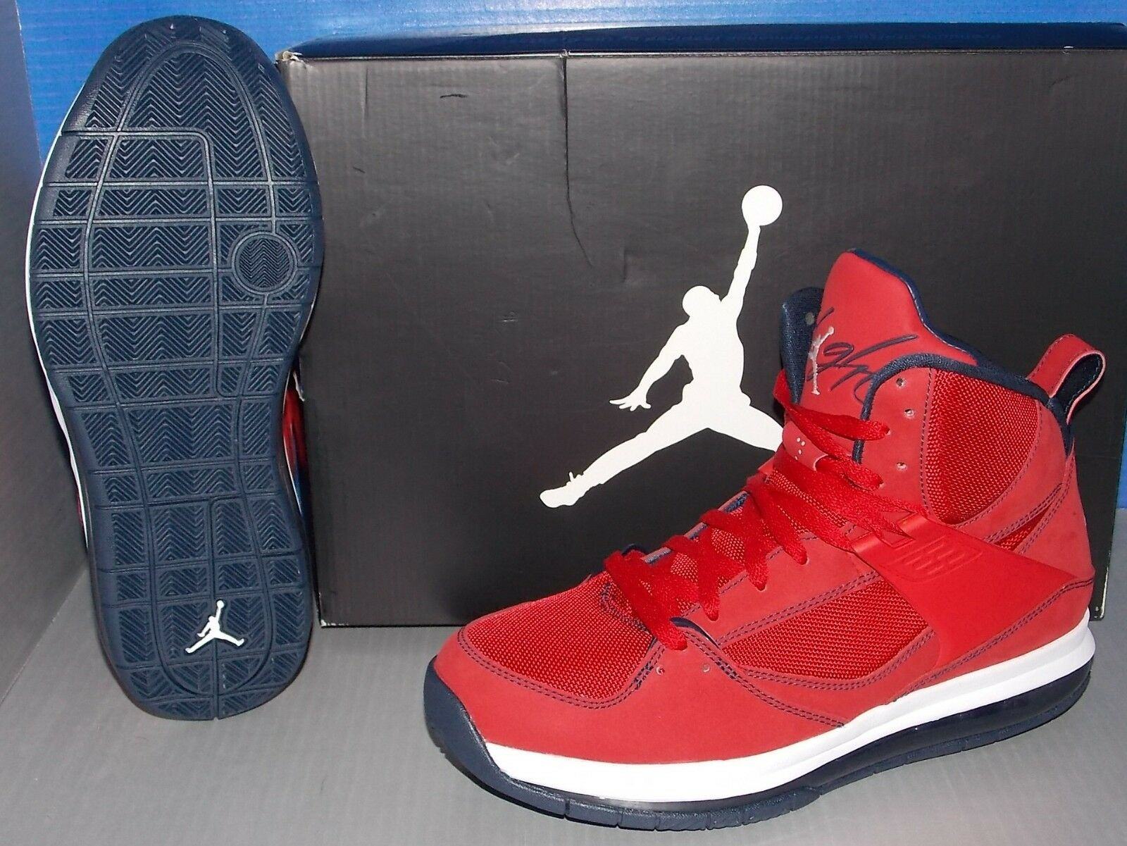 reputable site 8aacc df5c4 MENS NIKE JORDAN FLIGHT 45 HIGH MAX GYM RED   OBSIDIAN   WHITE SIZE 9.5 good