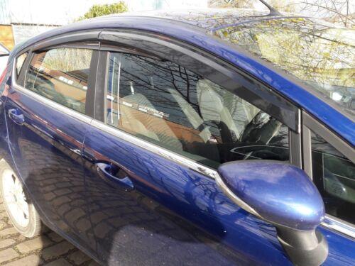 Ford fiesta viento desviadores de lluvia humo 2012-2017 MK8 de 4 piezas y 5 puertas