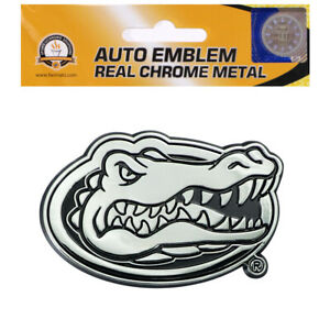 New NCAA Florida Gators Car Truck Plastic Chrome 3-D Sticker Decal Emblem