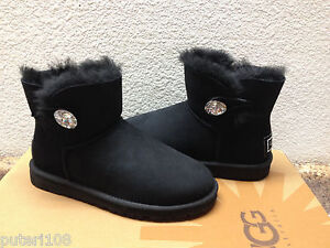 85642998480 Details about UGG MINI BAILEY BLING SWAROVSKI CRYSTAL BLACK US 11 / EU 42 /  UK 9 - NIB