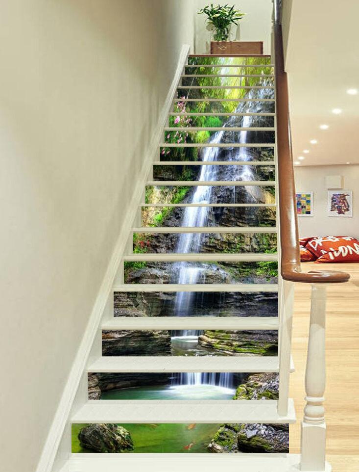 3D Hgel-See 6865 Stair Risers Dekoration Fototapete Vinyl Aufkleber Tapete DE