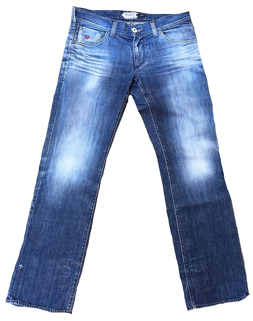 Worn Authentic Energie Herko 9e7r00 dy0431 l00349 Dark Used Jeans 34 W34 L34