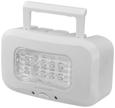 Green House GH-LED10WBA-WH Salt Water Powered LED Lantern emergency light New JP