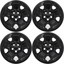 "4 Black 2014-2017 Jeep Cherokee Sport 17"" Wheel Skins Hub Caps Full Rim Covers"