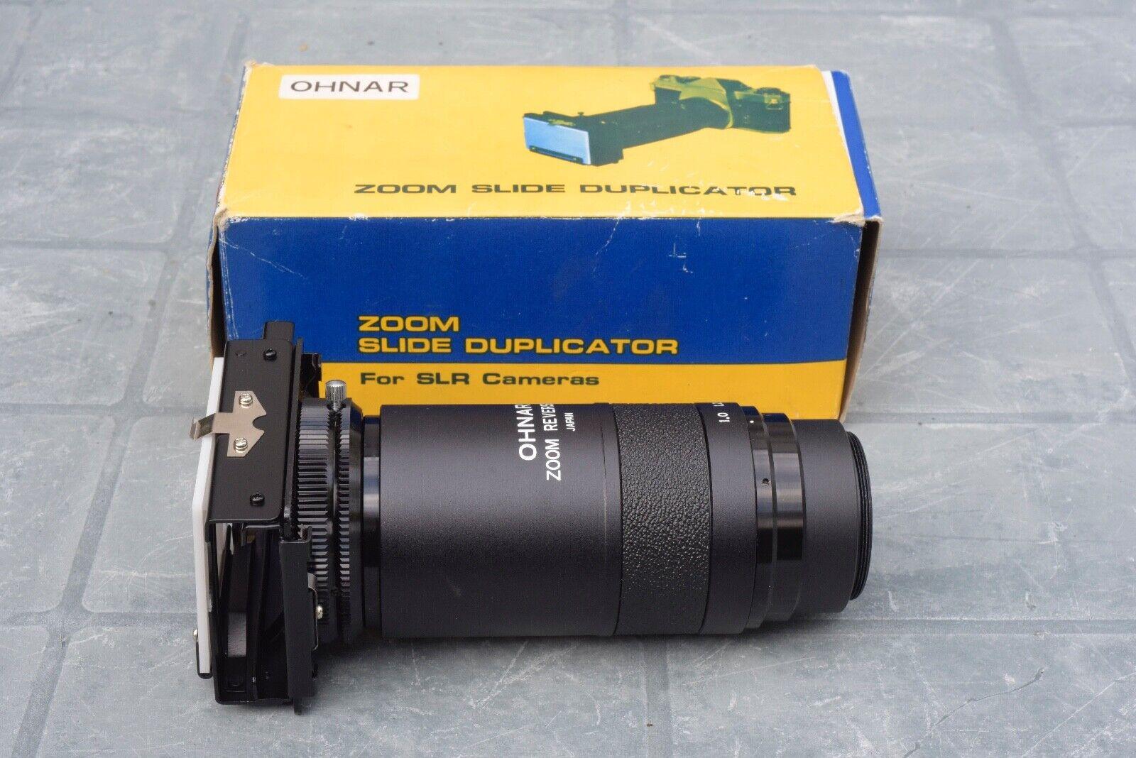 Ohnar zoom slide copier for copying or digitising 35mm slides