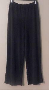 Womens-J-JILL-Black-Rayon-Blend-Cropped-Capri-Ankle-Pants-Size-S-Pull-On-Slinky