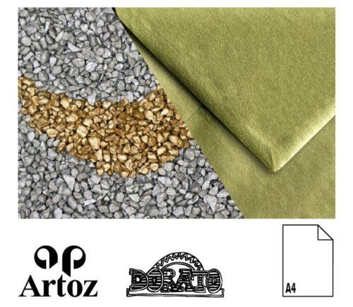 50 Artoz Papier Dorato Bogen einfach DIN A4 94g gold silber