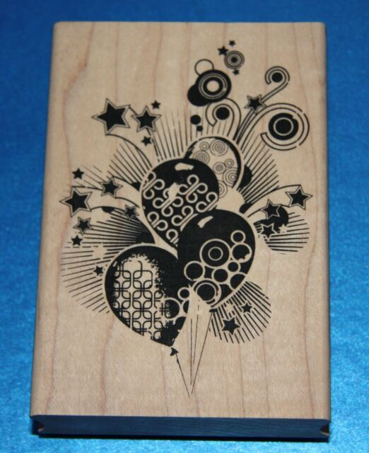 NEW Inkadinkado 'Celebration Confetti' Wooden Backed Rubber Stamp 99274P