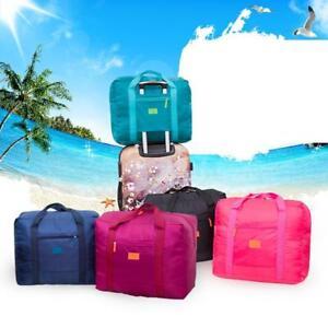 Foldable-Travel-Storage-Luggage-Carry-on-Organizer-Hand-Shoulder-Duffle-Bag-L