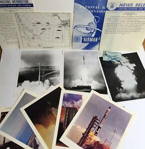 1966-ROCKET-PHOTOGRAPHS-LOT-NASA-ORIGINAL-SHIPS-VANDENBURG-DOD-SCOUT-THOR-AGENA