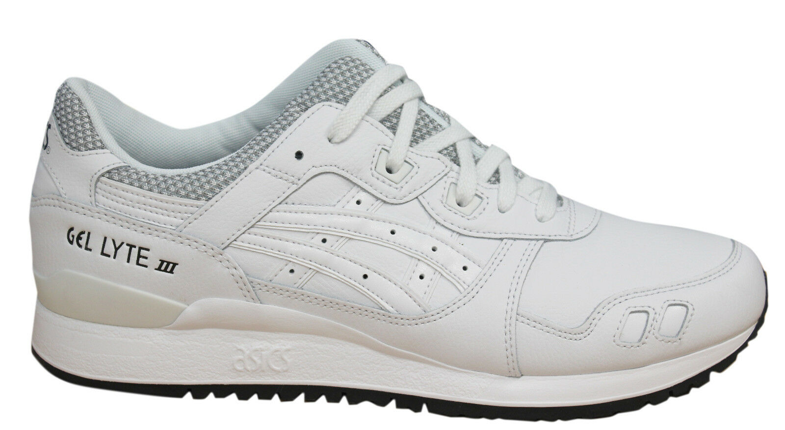 Asics Gel-Lyte III Lace Up Shoes BWhite Leather Mens Trainers HL701 0101 M14