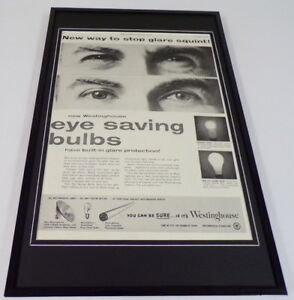 1955-Westinghouse-Light-Bulbs-Framed-11x17-ORIGINAL-Vintage-Advertising-Poster