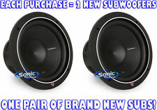 """2) Rockford Fosgate P1S2-10 250W RMS 10"""" Single 2 ohm Punch Stage 1 Subwoofers"""