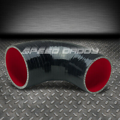 """Red 3Ply Silicone 2.50/""""-3.00/"""" 90 Degree Reducer Hose for Intake//Intercooler"""