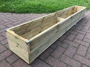 Image Is Loading 6ft Jumbo Extra Large Long Wooden Planter Trough