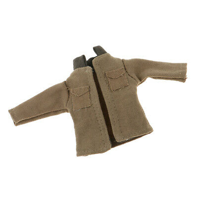 1:12 Scale Cotton Jacket Coat Khaki Dollhouse Miniatures Cloest Accessory