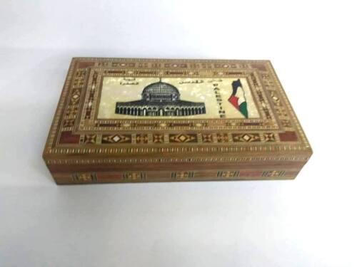 Caja de Almacenamiento de Madera Hermosa Tierra Santa madera de olivo Mujer bonita caja de joyería de boda