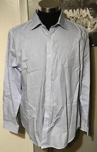 Michael-Kors-Men-s-Dress-Shirt-Cornflower-Blue-Slim-Fit-Size-Large-MSRP-59-50