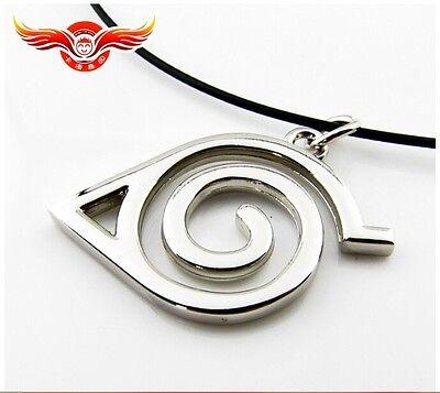 HOT! Anime Naruto Metal KONOHAMARU  Syaringan Pendant Necklace Cosplay