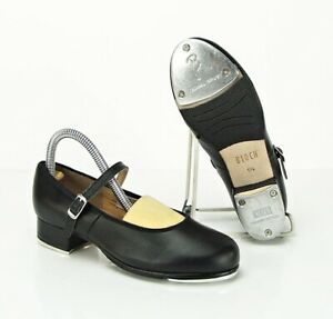 BLOCH YOUTH Girls SIZE 1.5 Tap-On Leather Tap Shoes Mary Jane MINT