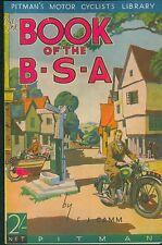 BSA Book FJ Camm 1937 Empire Star  B25 G14 M19 M20 M23 Y13 M24 Gold Star