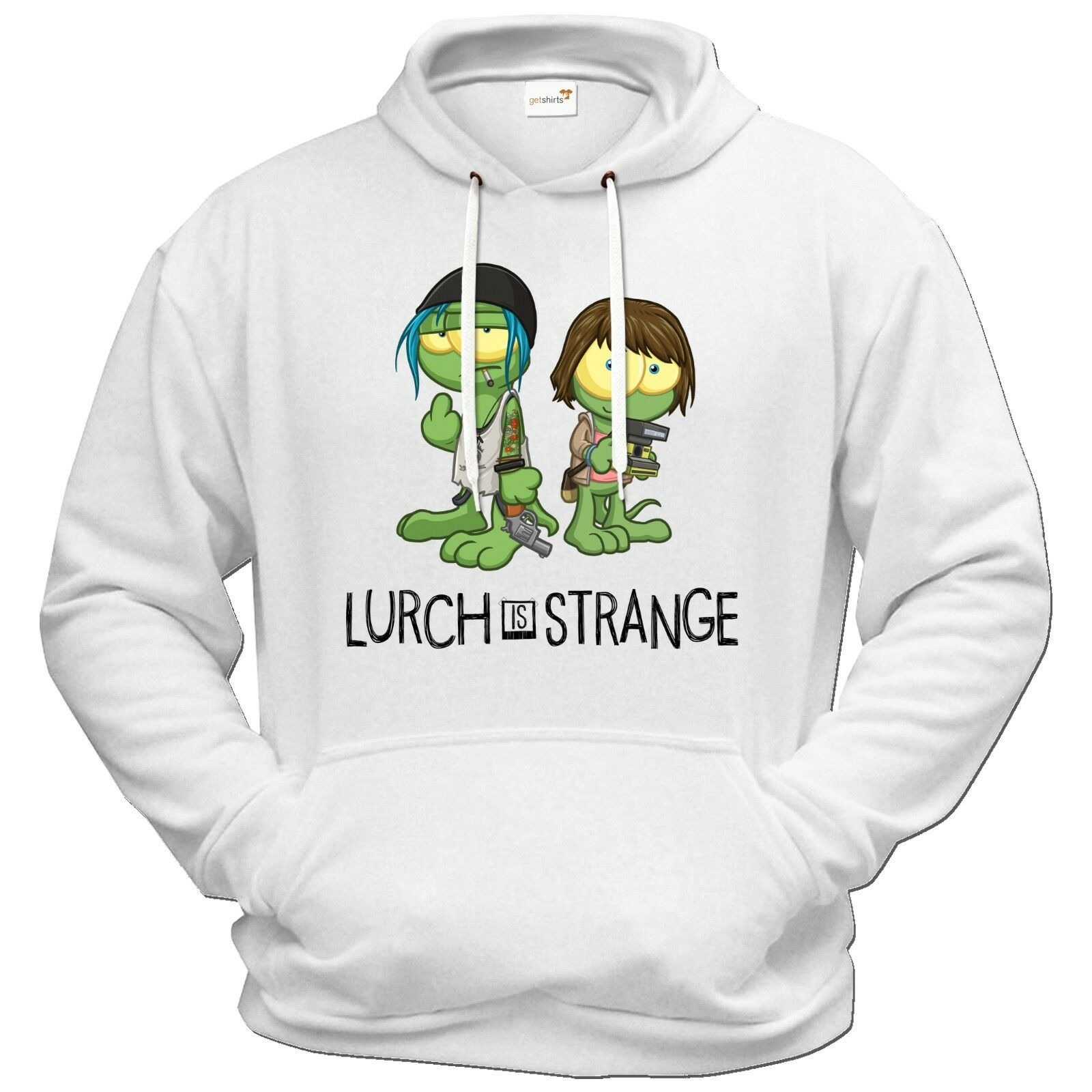 Getshirts - Gronkh Official Merchandising Merchandising Merchandising - Hoodie - Lurch is Strange Max & Ch.. | Quality First