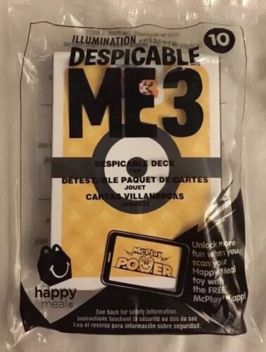 Mcdonald's Despicable Me 3 Minions 2017 Happy Meal Toy #10 Card DECK NIP In Hand