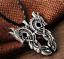 Ancient-Viking-Norse-Big-Double-Dragon-Amulet-Talisman-Pendant-Vintage-Necklace