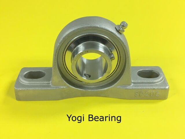 """SUCSP206-19 High Quality 1-3//16/"""" Stainless Steel Pillow Block Bearing"""