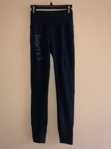 EUC barre3 Logo Lululemon navy blue/teal color  25