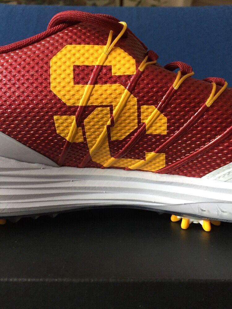 Brand discount Nike Lunar Control 4 USC Trojans Golf Shoes 14 White Crimson Red Gold 838109-111