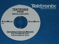 TEKTRONIX  2465B  Operating & Service Manuals (2)