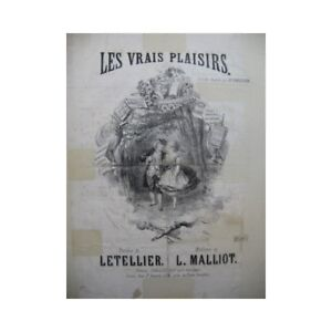 MALLIOT-L-The-Real-Pleasures-Singer-Piano-19th-partition-sheet-music-score