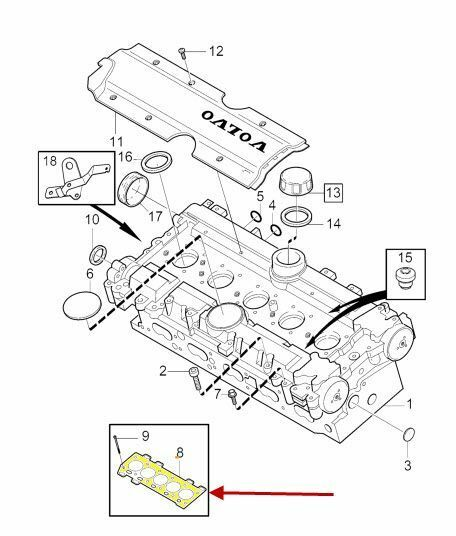 Volvo 30637066 Genuine Oem Factory Original Head Gasket For Sale