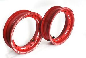 Vespa-Lml-Px-Sprint-Rally-Vbb-2X-10-034-Inches-Red-Aluminium-Tubeless-Wheel-Rim
