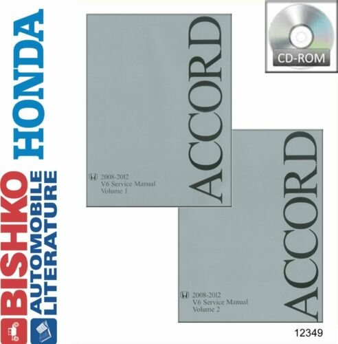 OEM Digital Repair Maintenance Shop Manual CD for Honda Accord V6 2008-2012