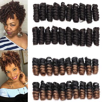 Us Toni Curly Crochet Braids Short Jumpy Wand Crochet Hair Extensions Kanekalon Ebay