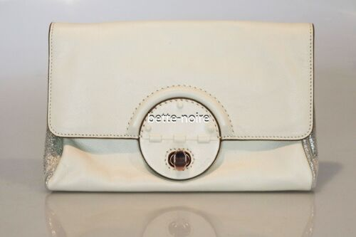 MIMCO PLAU CLUTCH LINEN Leather Rose Gold RRP$249 Turnlock Pouch Envelope Bag