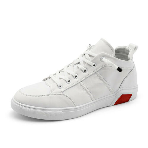 Leather Men Shoes Classic Sneakers Male White Snea