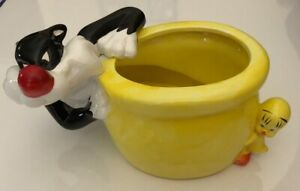 Looney Tunes Bowl Planter Vintage Sylvester And Tweety Planter