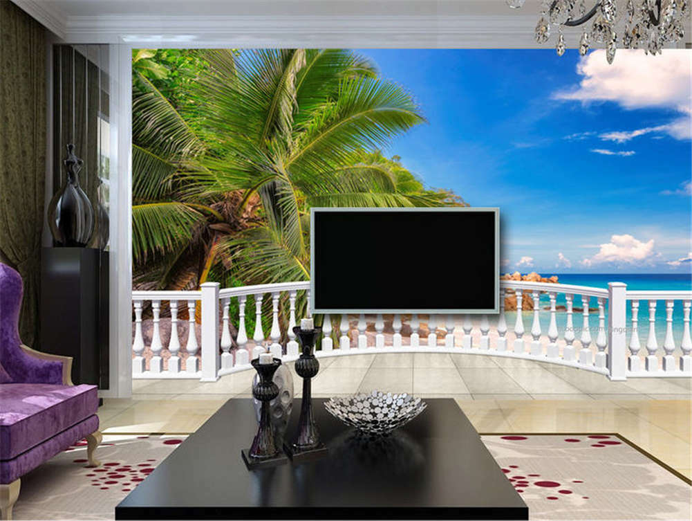 Sunny Entitled Coast 3D Full Wall Mural Photo Wallpaper Printing Home Kids Decor