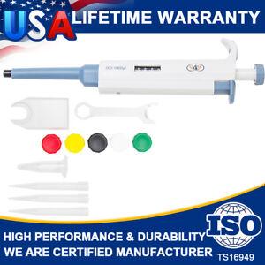 Super-Micro-Single-Channel-Adjustable-Pipetman-200-1000uL-P1000-Pipet-Pipette-US
