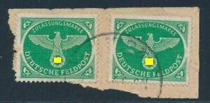 D-Reich-Feldpost-Nr-4-2-gestempelt-a-Briefstueck-geprueft-Rungas-BPP-40912