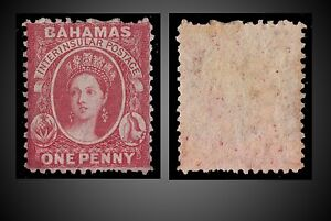 1863-1865-BAHAMAS-QUEEN-VICTORIA-1-P-ROSE-LAKE-MINT-SCOTT-11b-MINT-WITH-GUM