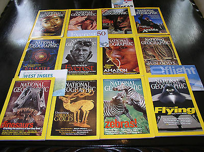 12 NATIONAL GEOGRAPHIC MAGAZINE COMPLETE SET 2003 ~ INCLUDES ALL SUPPLEMENTS